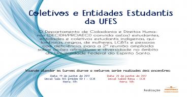Convite para reunião com Coletivos e Estudantes da UFES