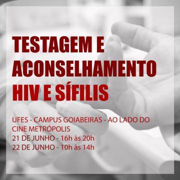 Testagem e acomselhamento HIV e Sífilis em Goiabeiras